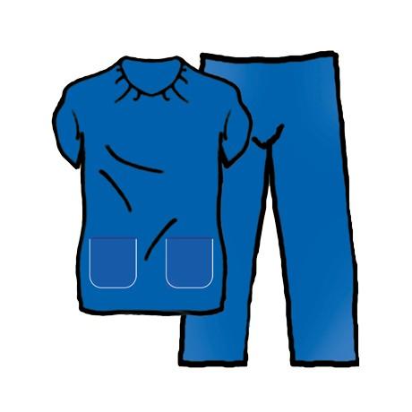 Pyjama Bleu Ciel Non Opaque