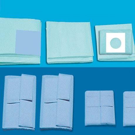 Champs CE 500x500 mm PE transparent troué avec adhésif