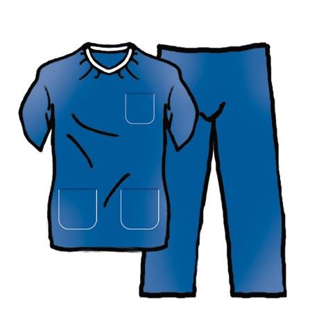 Pyjama Stérile Bleu