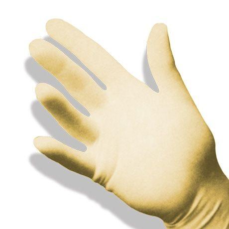 Gants stériles d'examen LATEX sans poudre. Qualité souple. 6 - 7 1/2