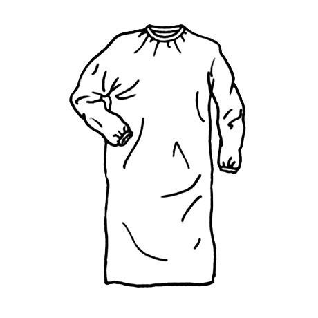 Blouse Visiteur Non Tissée Blanche - 18g/m2 - NON PLASTIFIÉE - Utilisation Blouse ou Sur-Blouse